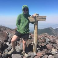 On the summit of Humphreys Peak, the highest point in Arizona