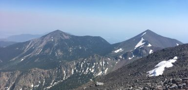 Fremont and Agassiz Peak from the summit of Humphreys Peak, AZ