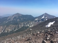 Agassiz (R) and Fremont (L) peaks from the top of Humphreys Peak, AZ