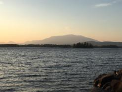 View of Mt. Katahdin from the New England Outdoor Center, Millinocket, ME