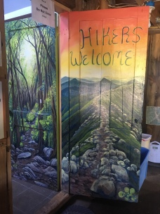 The door inside Hikers Welcome Hostel. It was a tiny but comfortable hostel, perfect for a rest before the Whites.