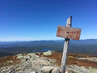 On the summit of Saddleback Mountain