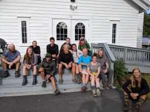 Just after the 2,000 mile mark, we stayed at the Strong Church of the Nazarene in Strong, ME. There was a cool group that night, and the folks at the church graciously allowed us to shower, do laundry, and sleep in the basement of the church.
