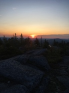 Sunrise from Moxie Bald, where I cowboy camped with Sorte and Zippy just before Monson