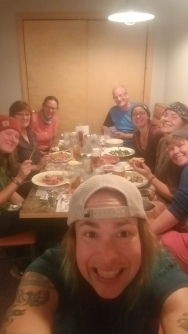 Post-Katahdin dinner, courtesy of Jingles, the Selfie Queen.